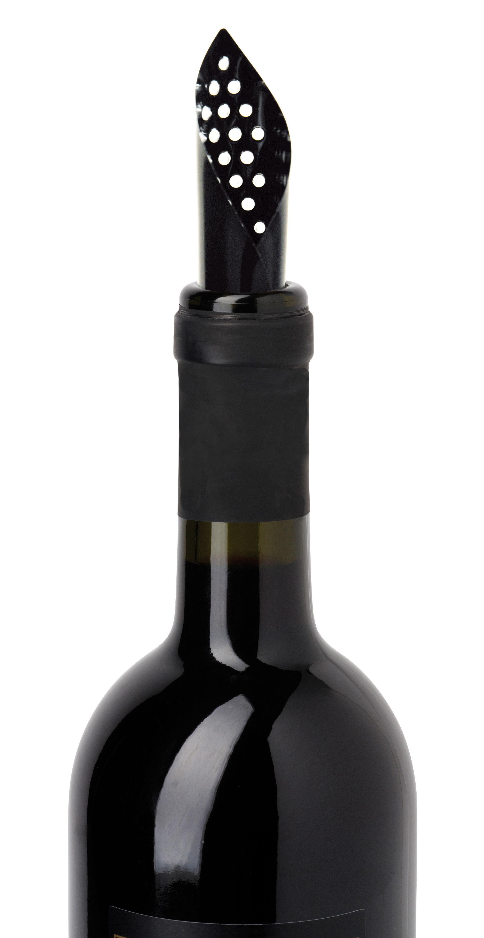 Tavola - Bar, Vino, Aperitivo - Beccuccio per versare - / Set da 5 aeratori morbidi di L'Atelier du Vin - Nero - Plastica