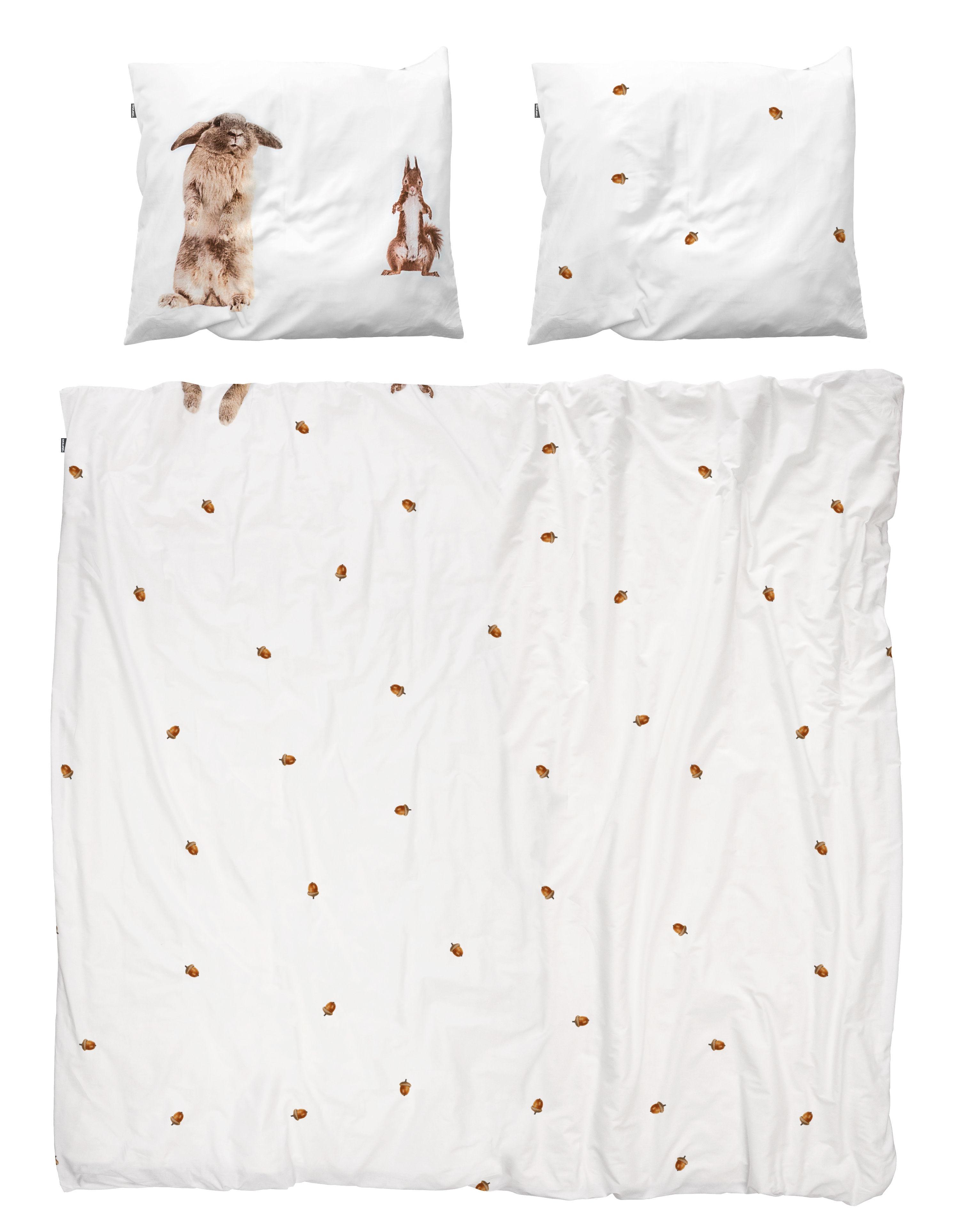 Decoration - Bedding & Bath Towels - Furry friends Bedlinen set for 2 people - 2 people / W 235 x L 220 cm by Snurk - Furry friends - Cotton percale