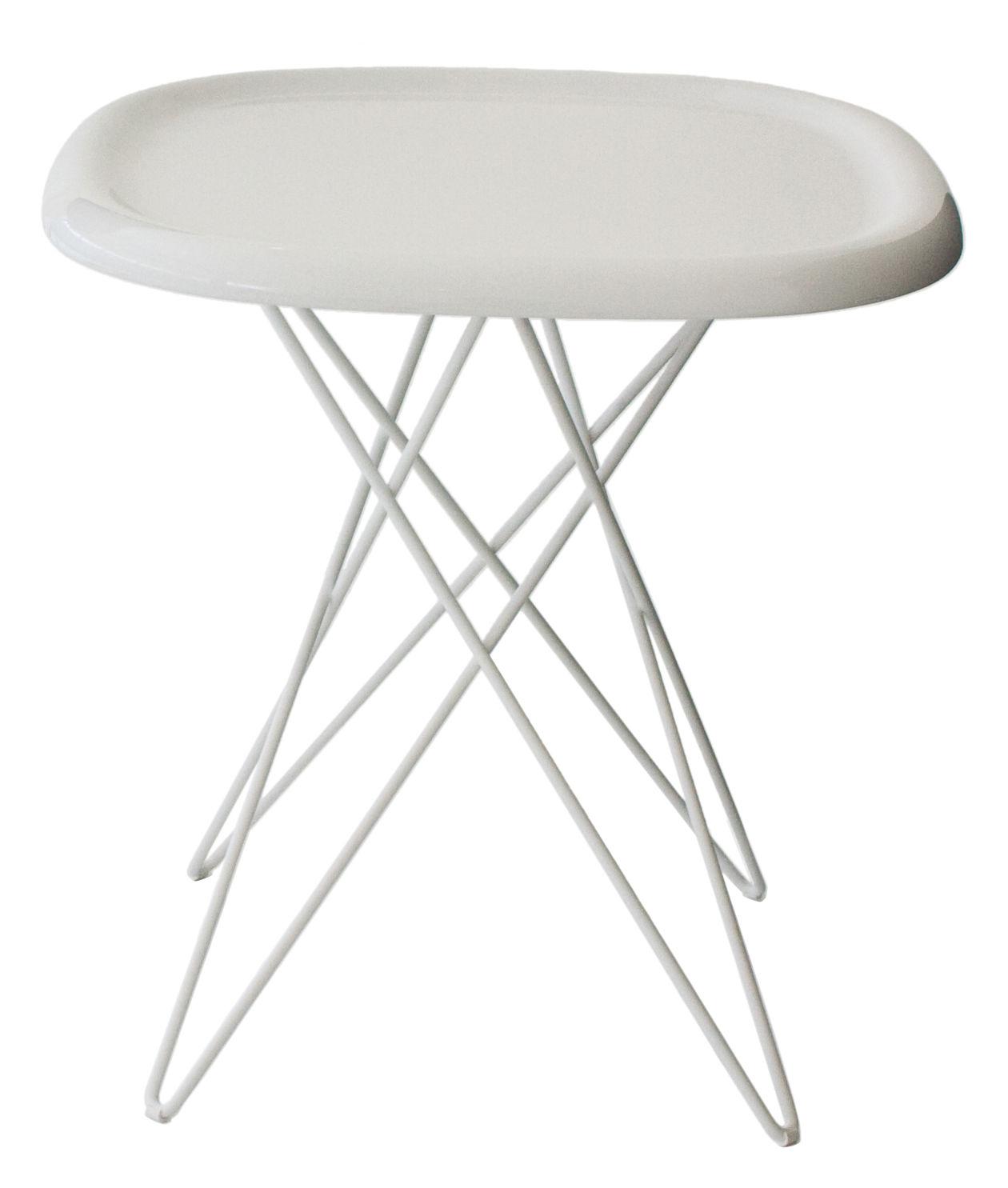 Möbel - Pizza Beistelltisch H 46 cm - Magis - H 46 cm - weiß - ABS, gefirnister Stahl
