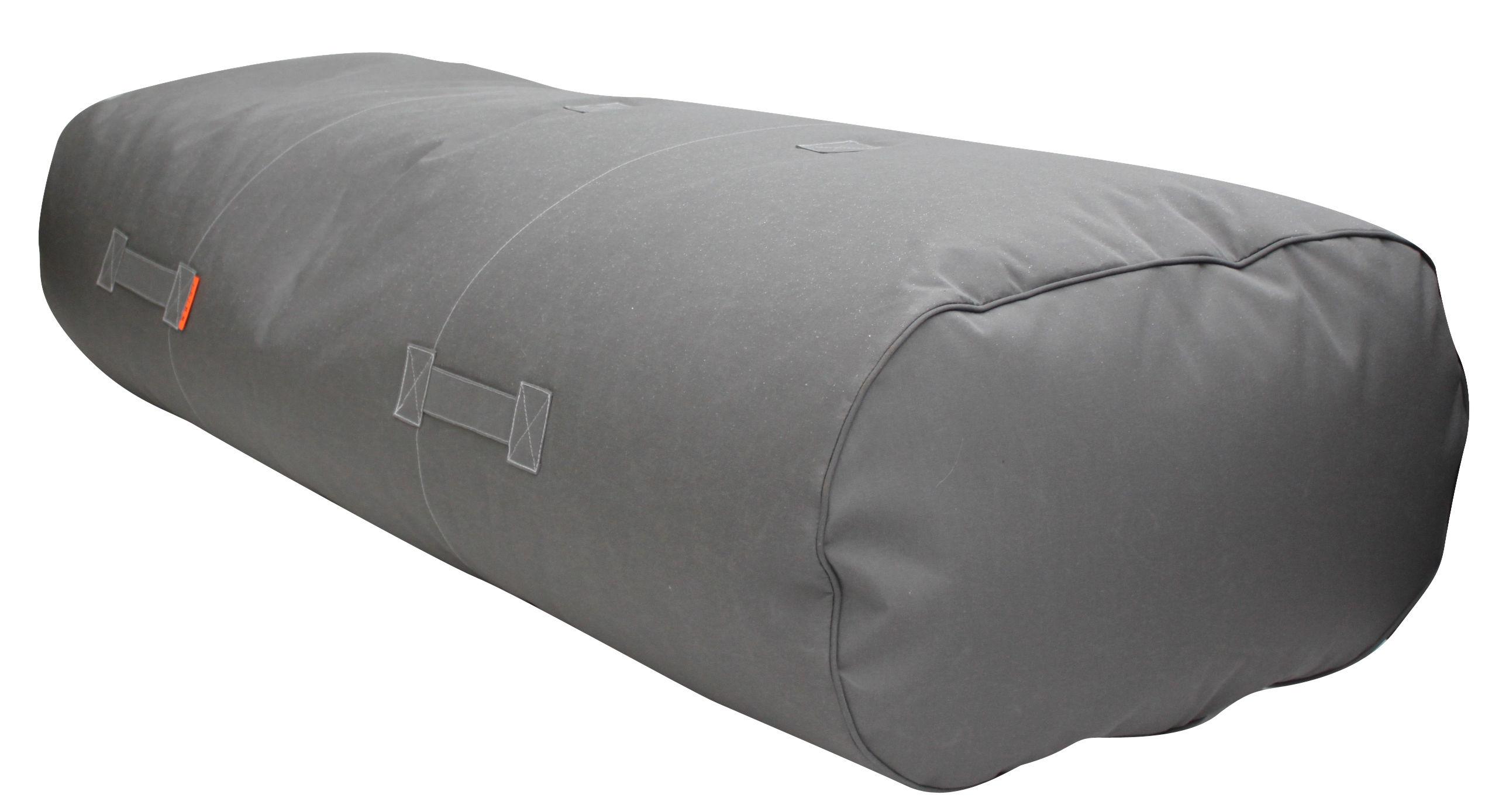 Furniture - Poufs & Floor Cushions - Rocket Bench - L 180 cm - 3 seaters by Trimm Copenhagen - Grey - Cloth