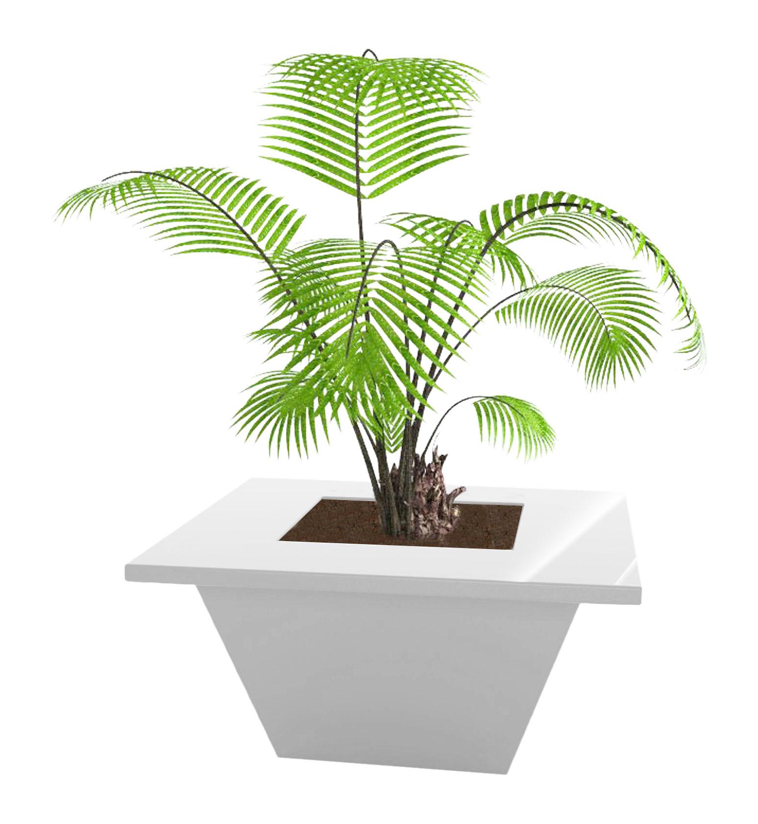 Outdoor - Töpfe und Pflanzen - Bench Blumentopf 150 x 150 cm - lackiert - Slide - Weiß lackiert - Polyéthylène recyclable laqué