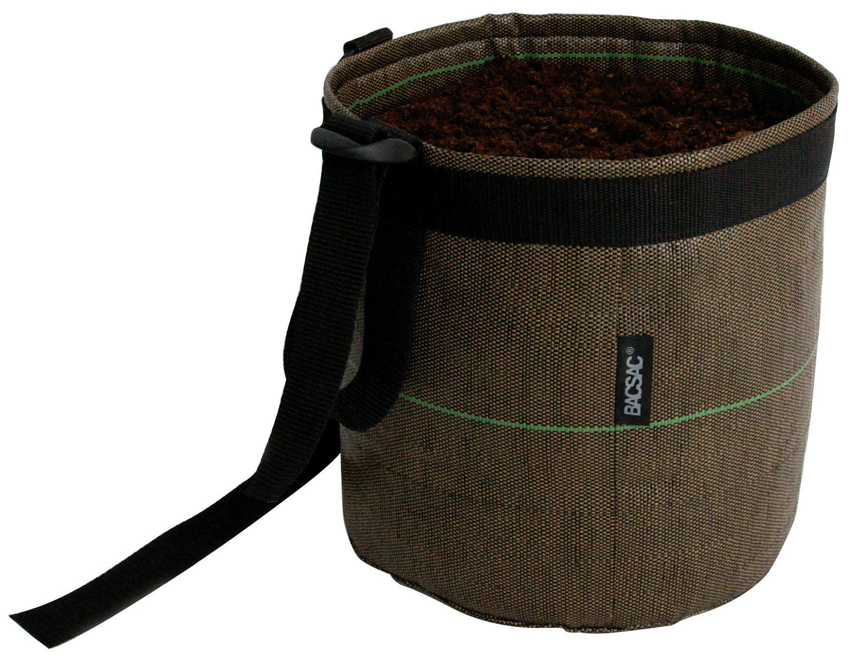Outdoor - Töpfe und Pflanzen - Accroché Geotextile Blumentopf zum Aufhängen 10 L - Bacsac - Braun - Geotextil-Gewebe