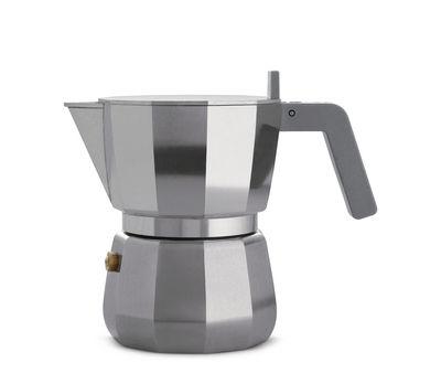 Arts de la table - Thé et café - Cafetière italienne Moka /3 tasses - Alessi - 3 tasses / Acier - Fonte d'aluminium, Polyamide