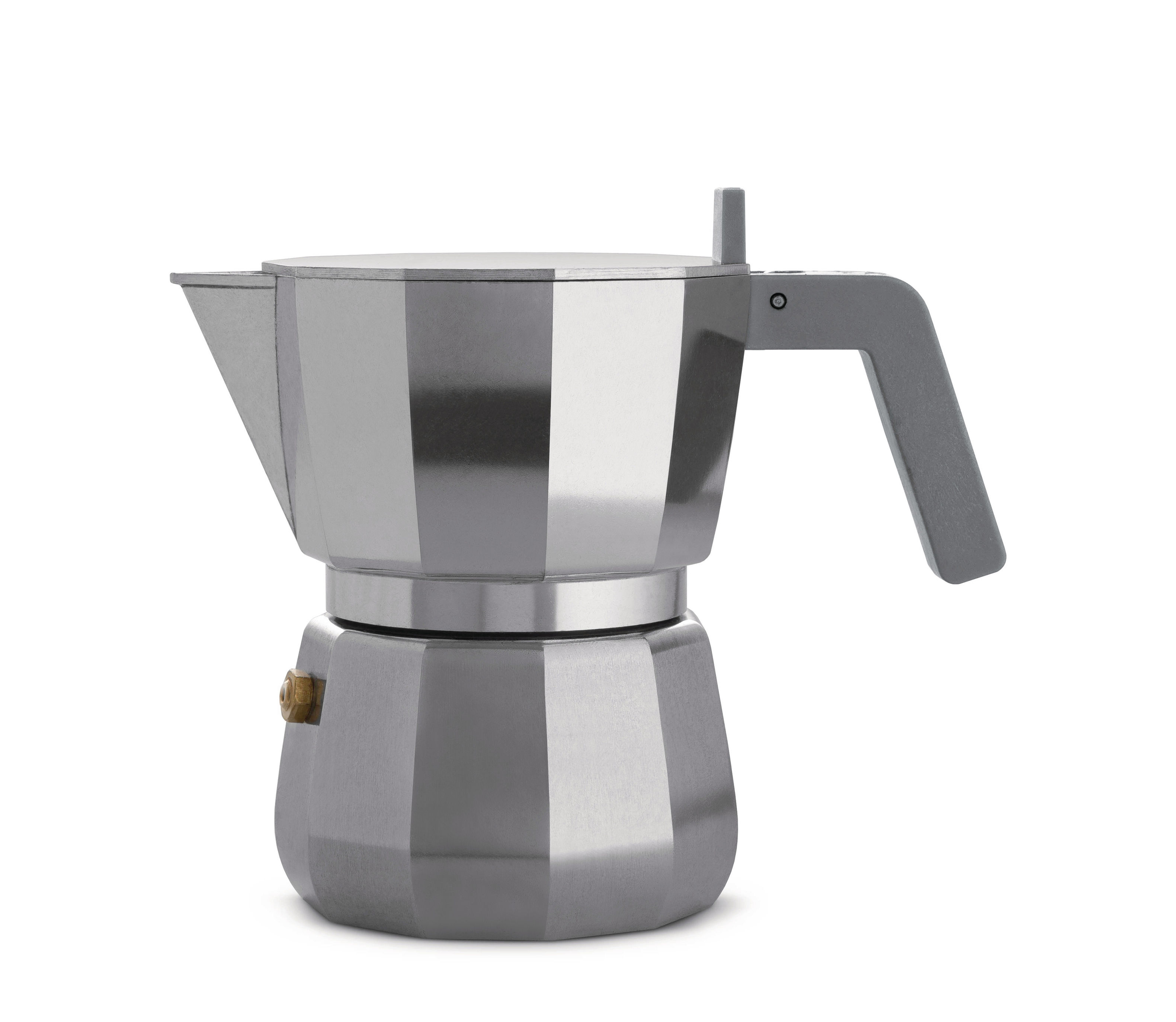 Tavola - Caffè - Caffettiera espresso italiano Moka - /3 tazze di Alessi - 3 tazze / Acciaio - Ghisa di alluminio, Poliammide