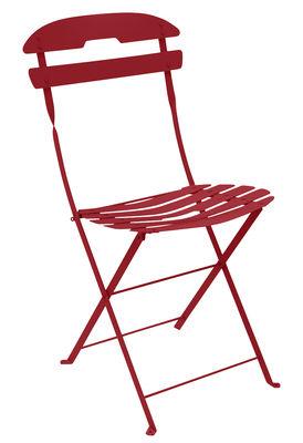 Mobilier - Chaises, fauteuils de salle à manger - Chaise pliante La Môme / Acier - Fermob - Piment - Acier peint