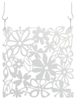 Mobilier - Paravents, séparations - Cloison Alice / Set de 4 - Crochets inclus - Koziol - Blanc opaque - Polycarbonate
