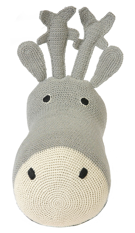 Decoration - Children's Home Accessories - Tête de renne Cuddly toy - Crochet cuddly toy by Anne-Claire Petit - Silver - Lurex