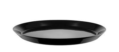 Tableware - Plates - Tonale Dessert plate - / Ø 20 cm by Alessi - Black - Stoneware ceramic