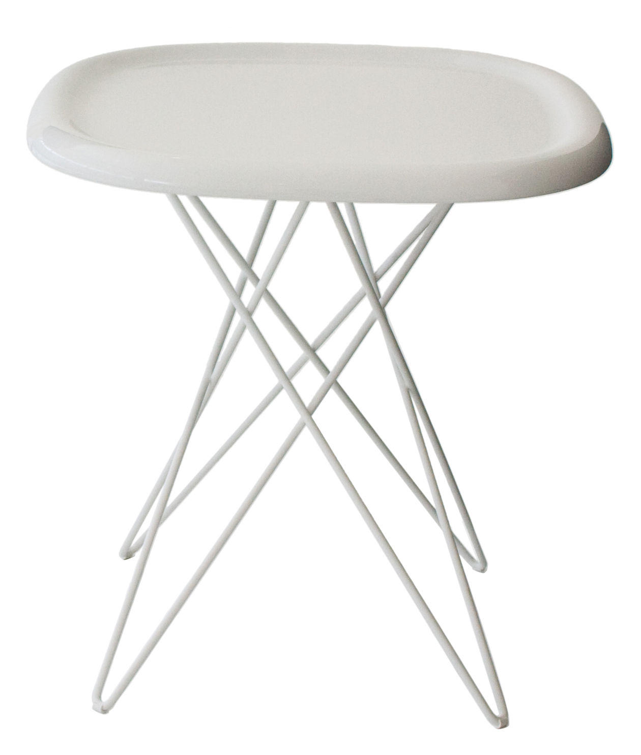 Furniture - Pizza End table - H 46 cm by Magis - H 46 cm - White - ABS, Varnished steel