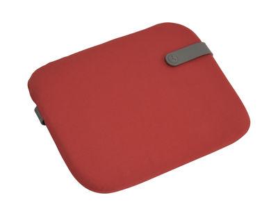 Galette Color Mix / Pour chaise Bistro - 38 x 30 cm - Fermob romarin,rouge candy en tissu