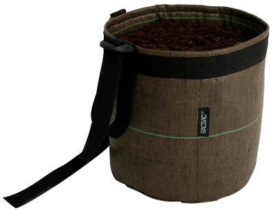 Outdoor - Pots & Plants - Accroché Geotextile Hanging pot - 10 L - Outdoor by Bacsac - Brown - Geotextile cloth
