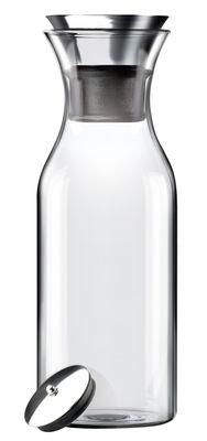 Tischkultur - Karaffen - Stoppe-goutte Karaffe Tropffrei 1 L - Eva Solo - Durchsichtig - Ohne Isoliermanschette - Glas, rostfreier Stahl, Silikon