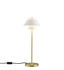Lampe de table Oxford Double / Laiton satiné & porcelaine - Original BTC