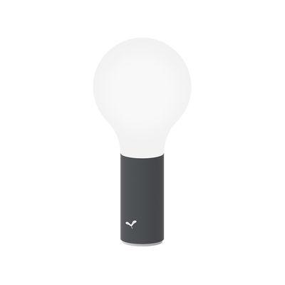 Luminaire - Lampes de table - Lampe sans fil Aplô LED - Fermob - Carbone - Aluminium, Polycarbonate