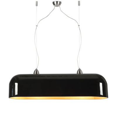 Lighting - Pendant Lighting - Halong Pendant - / Bamboo - L 87 cm by GOOD&MOJO - Laquered black - Bamboo