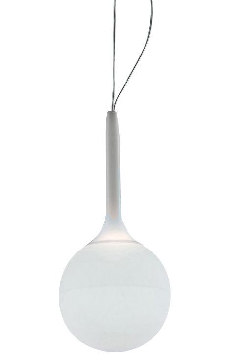 Leuchten - Pendelleuchten - Castore Pendelleuchte - Artemide - Weiß - Ø 14 cm - geblasenes Glas