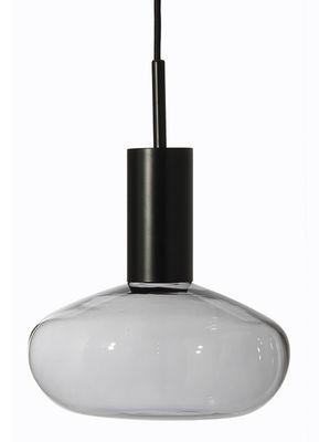 Gambi Pendelleuchte / mundgeblasenes Glas - Aufhängung schwarz - ENOstudio - Schwarz,Transparent