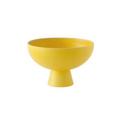 Tischkultur - Salatschüsseln und Schalen - Strøm Small Schale / Ø 15 cm - Céramique / Fait main - raawii - Jaune Freesia - Keramik
