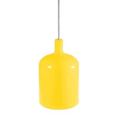 Illuminazione - Lampadari - Sospensione Bulb di Bob design - Giallo - cavo nero - Poliuretano