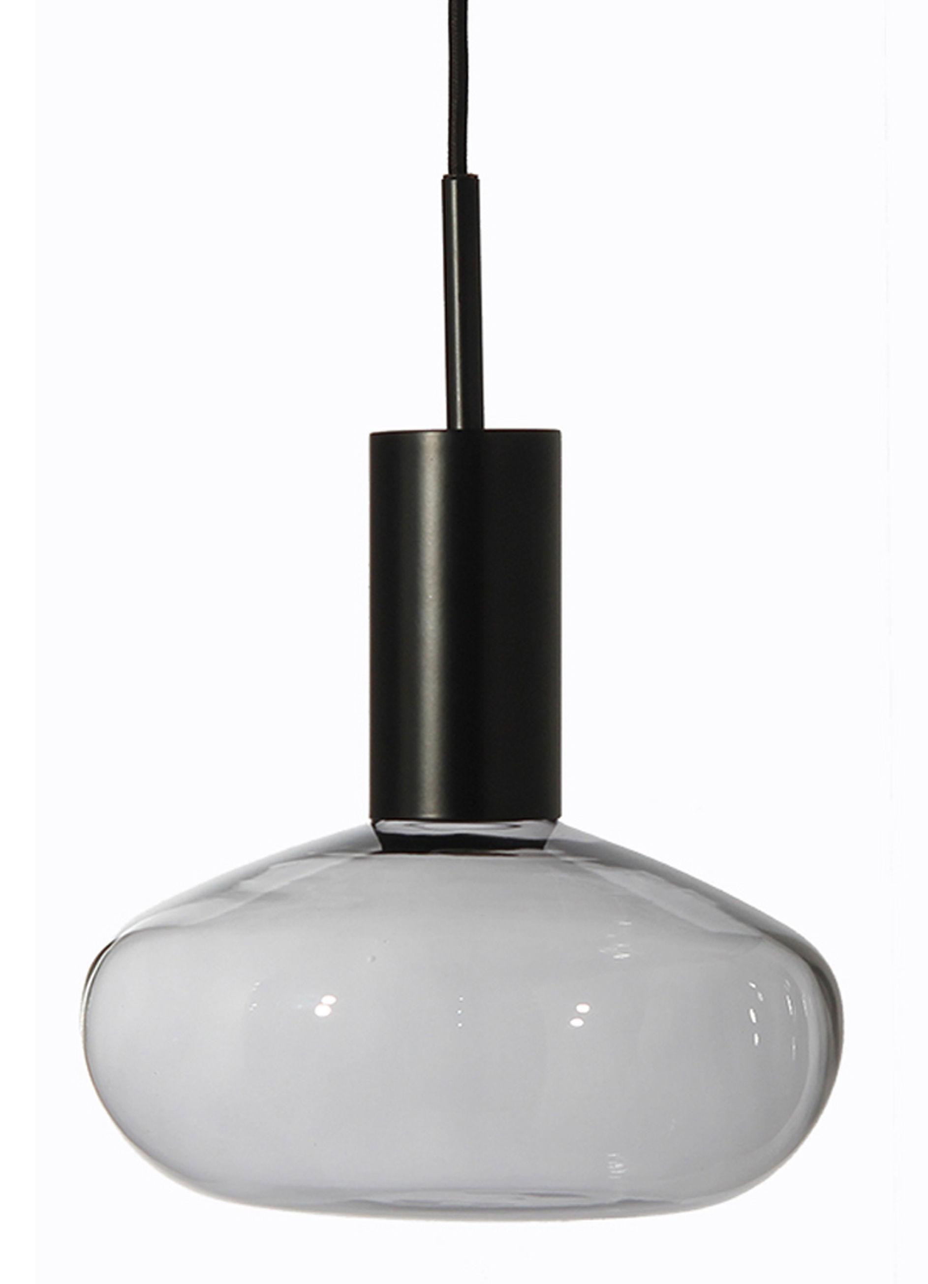 Illuminazione - Lampadari - Sospensione Gambi - / Vetro soffiato - Struttura nera di ENOstudio - Vetro trasparente / Nero - Acciaio, vetro soffiato