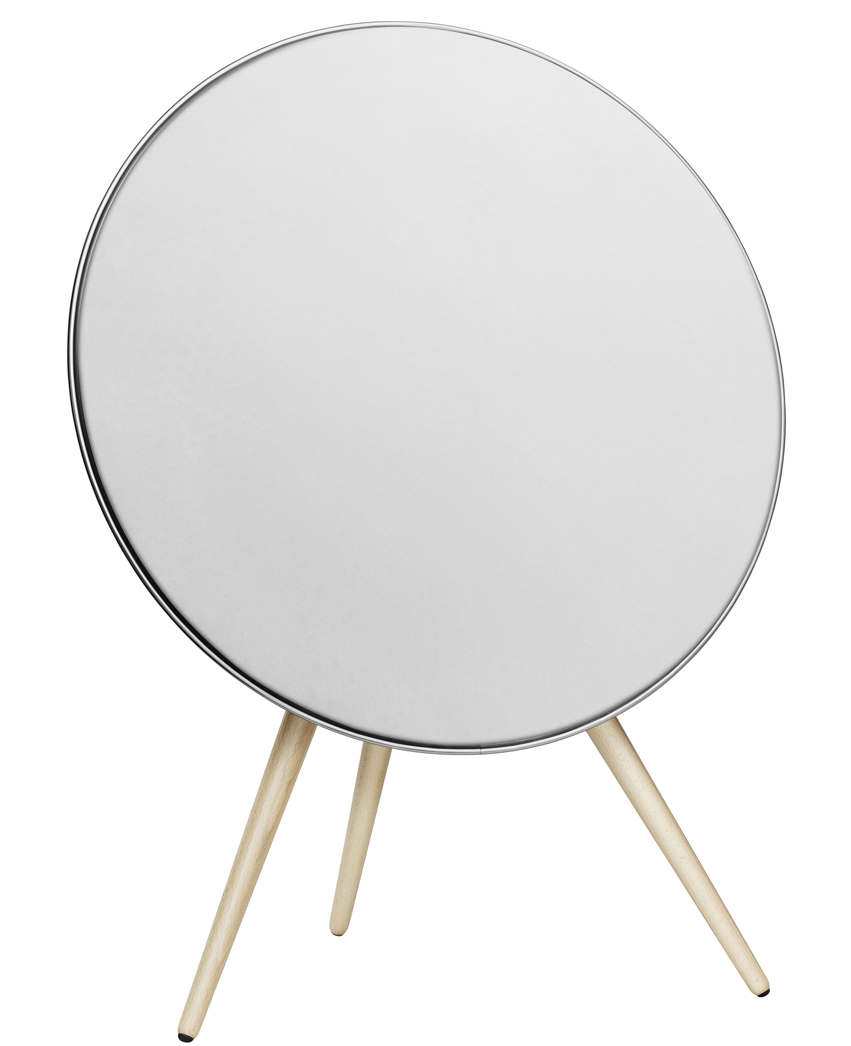 Father's day - Trendy high-tech accessories - BeoPlay A9 Speaker by B&O PLAY by Bang & Olufsen - White / Mapple leg - Maple, Plastic material