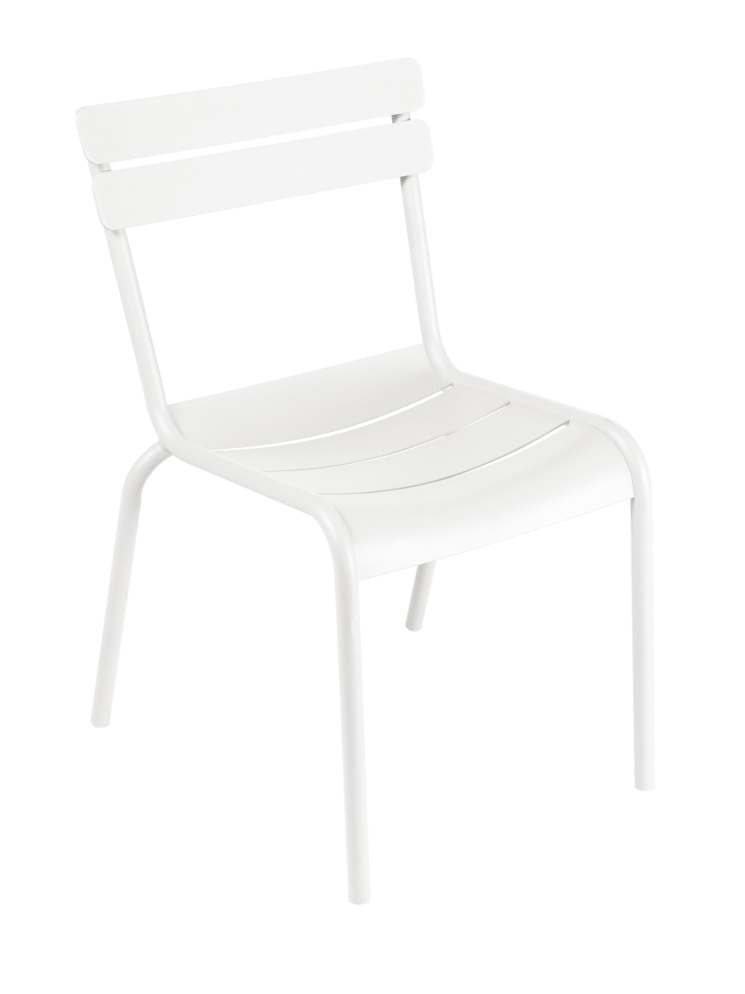 Life Style - Luxembourg Stacking chair - Metal by Fermob - White - Lacquered aluminium