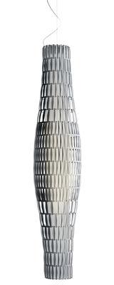 Luminaire - Suspensions - Suspension Tropico Vertical / Modulable - Ø 30cm x H 144cm - Foscarini - Transparent - Matière plastique, Métal