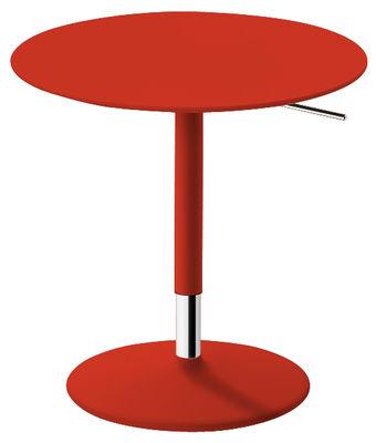 Table à hauteur réglable Pix / Ø 50 cm - H 48-74 cm - Arper rouge en métal