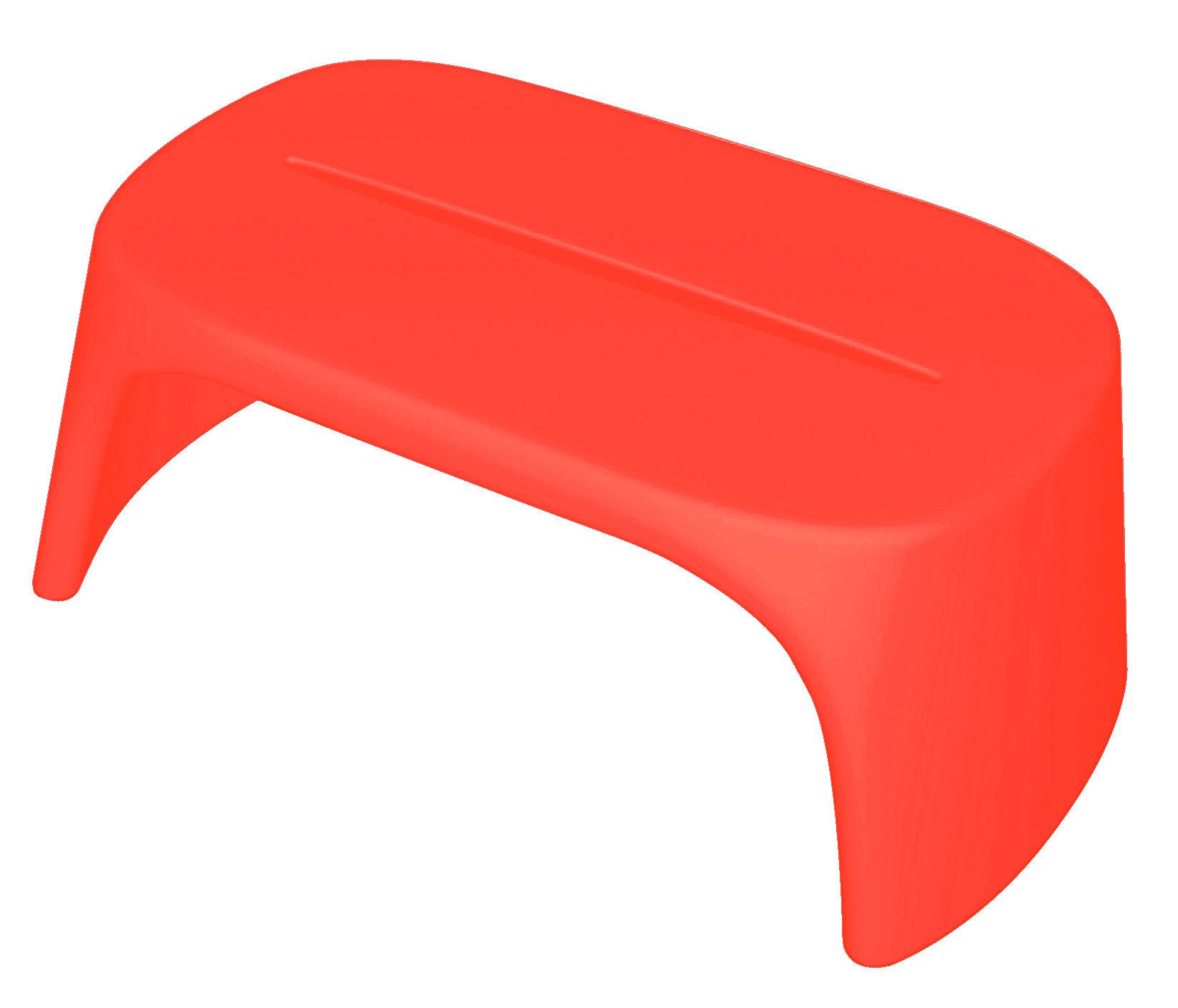Mobilier - Tables basses - Table basse Amélie / Banc - L 108 cm - Plastique - Slide - Rouge - polyéthène recyclable