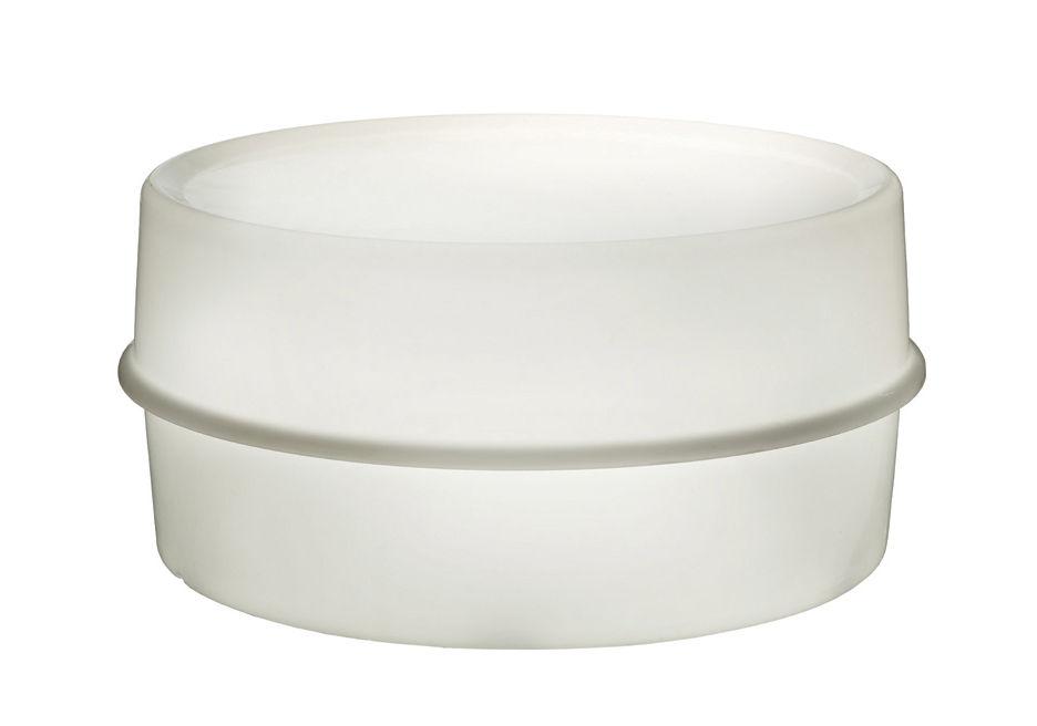 Mobilier - Tables basses - Table basse lumineuse Illumesa Ø 78 cm - Panton 1970 / Exclusivité web - Verpan - Blanc & cordon jaune - Acrylique
