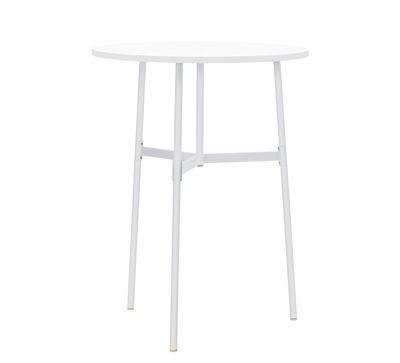 Table haute Union / Ø 80 x H 105,5 cm - Stratifié Fenix - Normann Copenhagen blanc en métal