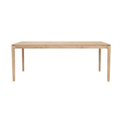Table rectangulaire Bok / Chêne massif - 200 x 95 cm / 8 personnes - Ethnicraft bois naturel en bois