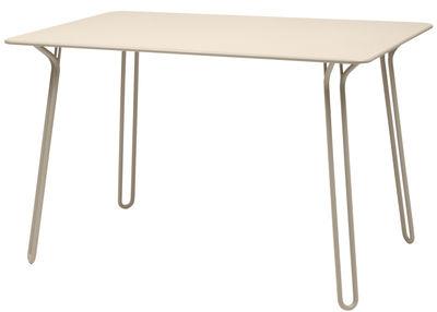 Table rectangulaire Surprising / 120 x 78 cm - Fermob muscade en