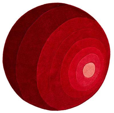 Déco - Tapis - Tapis Luna / Ø 120 cm - Panton 1965 - Verpan - Rouge - Laine
