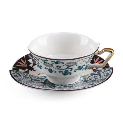 Tasse à thé Hybrid Aspero / Set tasse + soucoupe - Seletti multicolore en céramique