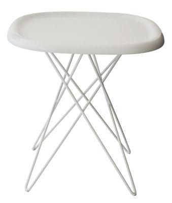 Arredamento - Tavolino d'appoggio Pizza - H 46 cm di Magis - H 46 cm - Bianco - ABS, Acciaio verniciato