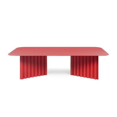 Arredamento - Tavolini  - Tavolino Plec Large - / Acciaio - 115 x 60 x H 30 cm di RS BARCELONA - Rosso - Acciaio