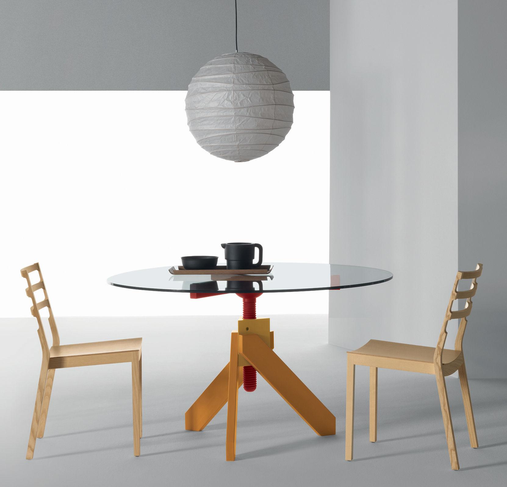 Scopri tavolo vidun altezza regolabile nero di de padova for Altezza tavolo