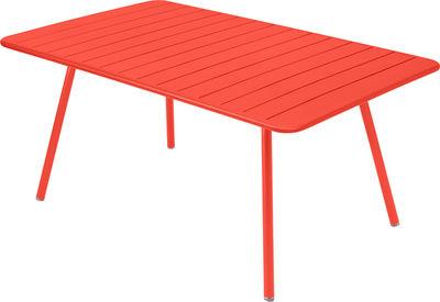 Life Style - Tavolo rettangolare Luxembourg - / da 6 a 8 persone - 165 x 100 cm di Fermob - Nasturzio - Alluminio laccato