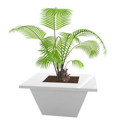 Outdoor - Vasi e Piante - Vaso per fiori Bench - 150 x 150 cm - Versione laccata di Slide - Bianco laccato - Polietilene riciclabile laccato