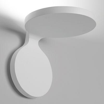 Lighting - Wall Lights - Rea Large LED Wall light by Artemide - L 17 cm / White - Varnished aluminium