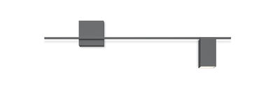 Lighting - Wall Lights - Structural LED Wall light - / L 120 cm by Vibia - Grey - Lacquered aluminium