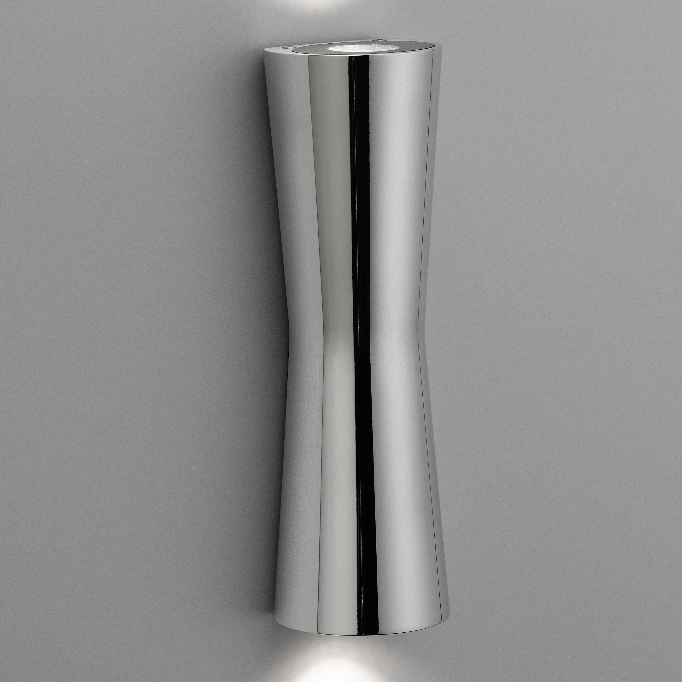 Leuchten - Wandleuchten - Clessidra 20° Wandleuchte LED - für den Inneneinsatz - Flos - Chrom-glänzend - Gussaluminium, PMMA