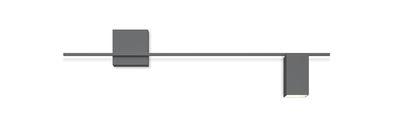 Structural LED Wandleuchte / L 120 cm - Vibia - Mattgrau