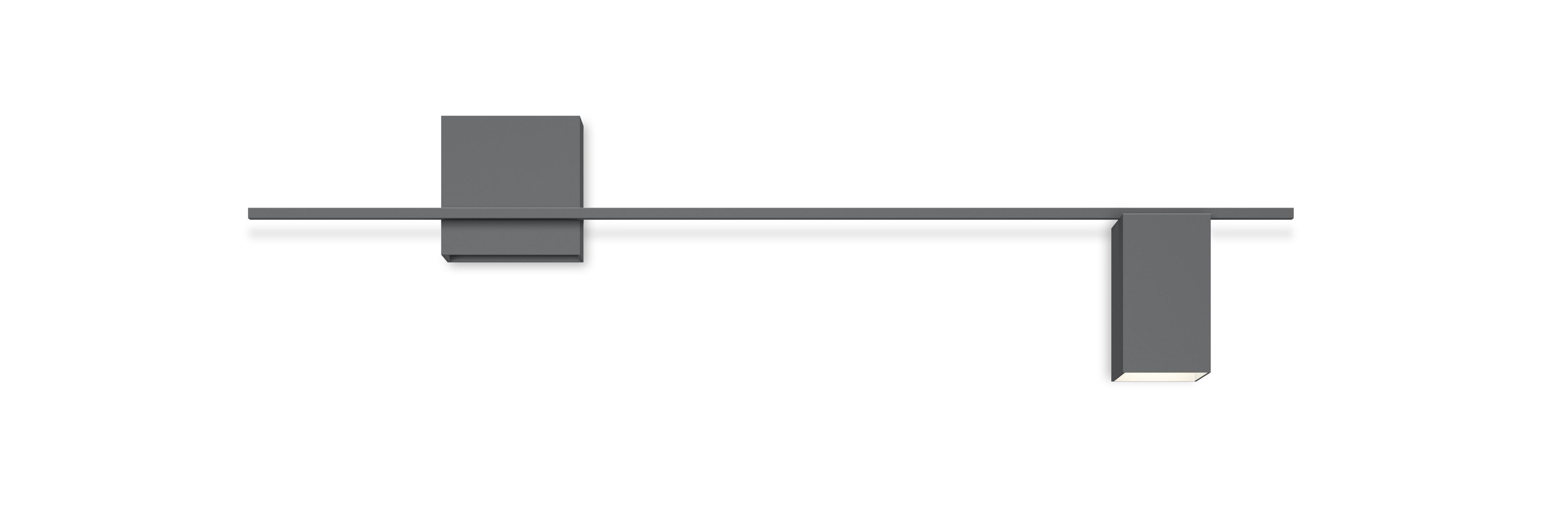 Leuchten - Wandleuchten - Structural LED Wandleuchte / L 120 cm - Vibia - Grau - lackiertes Aluminium