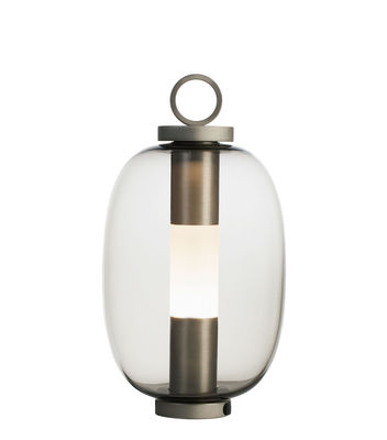 Lighting - Table Lamps - Lucerna  LED Wireless lamp - / Glass by Ethimo - Transparent grey / Aluminium - Blown glass, Metal