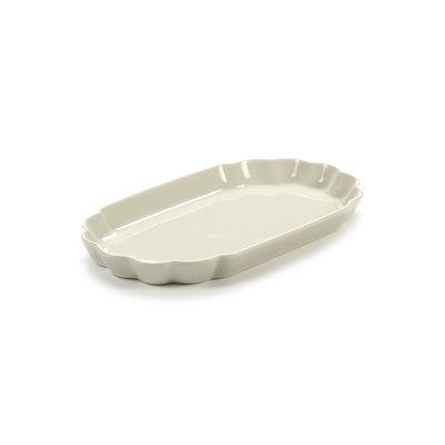 Arts de la table - Assiettes - Assiette Désirée Small / 22 x 12,5 cm - Serax - Small / Blanc - Porcelaine