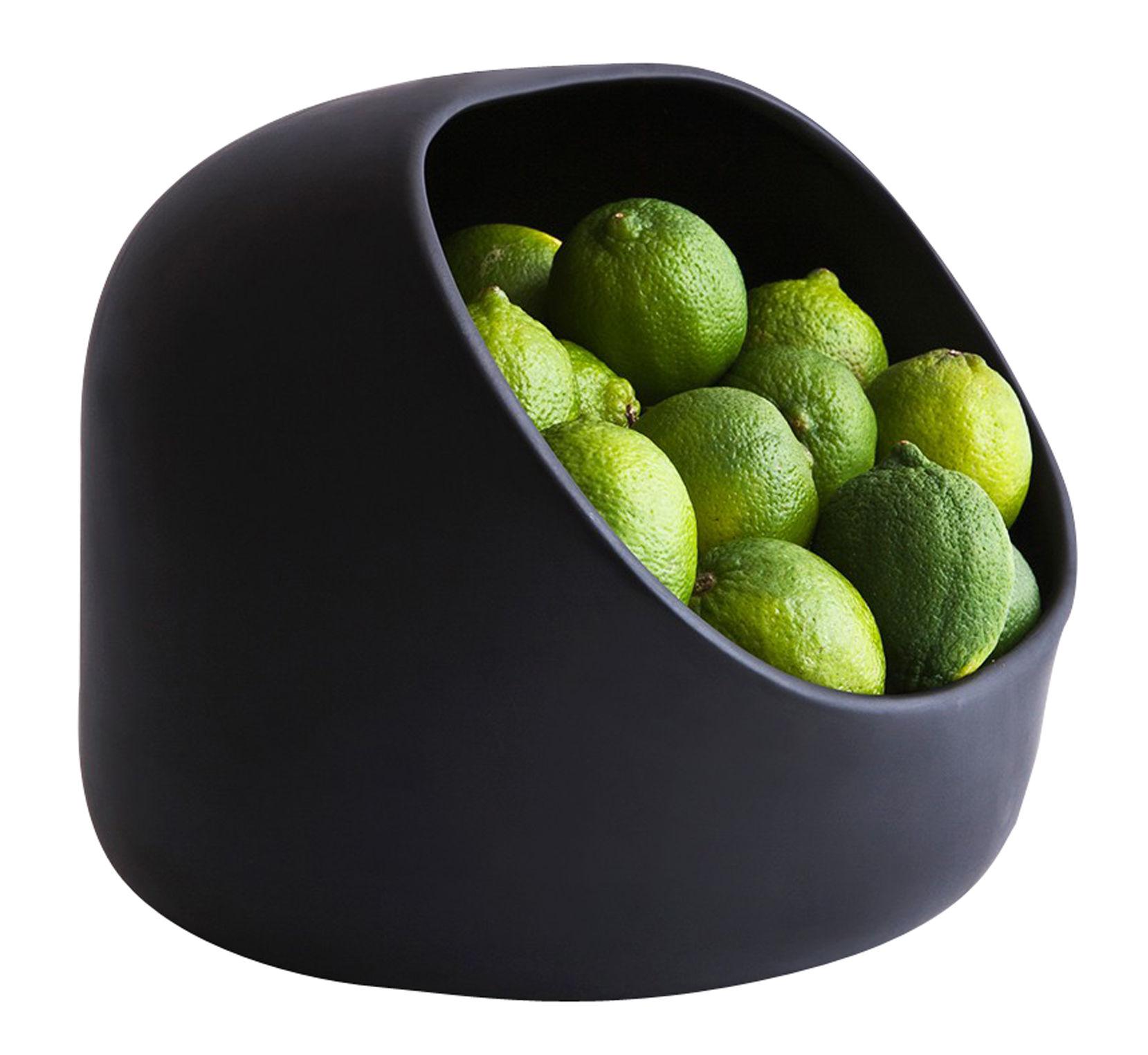 Decoration - Centrepieces & Centrepiece Bowls - Ô Basket - 25 x 20 cm by Moustache - Basket - Black - Enamled terracotta
