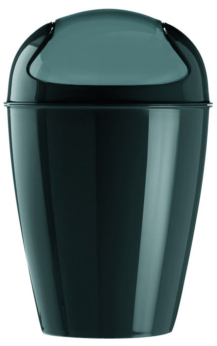 Decoration - For bathroom - Del M Bin - H 44 cm - 12 liters by Koziol - Black - Polypropylene