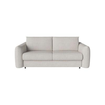 Canapé convertible Chloé / 3 places - L 214 cm - Bolia blanc en tissu